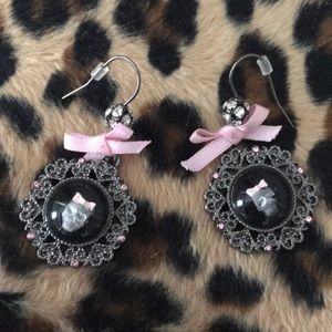 Betsey Johnson skull earrings